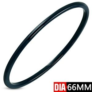 DIA-66mm W-3mm | Blue Ceramic Bangle